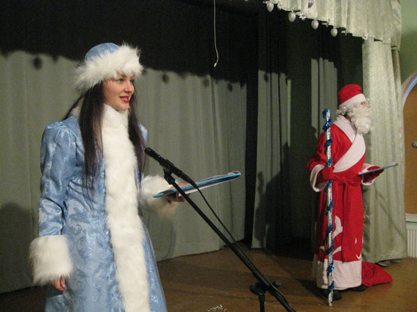 Дед Мороз и Снегурочка (В.Бородин и Н.Рисухина)