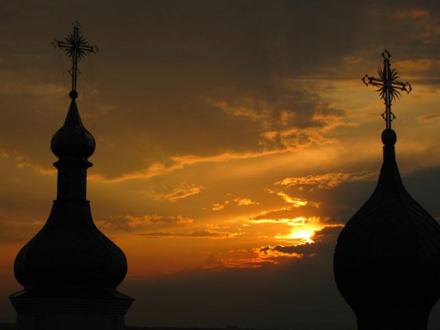 Закат в Одинковке. Фото свящ. Романа Федчишина